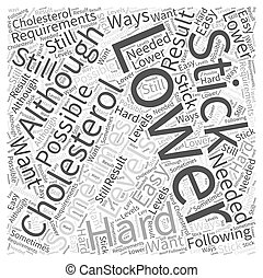 ways to lower your cholesterol Word Cloud Concept
