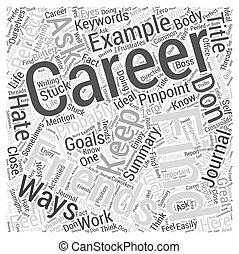 Ways to Pinpoint Your Perfect Career Word Cloud Concept