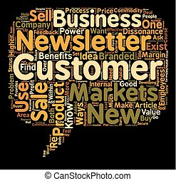 Ways To Use Customer Sales Newsletters text background...