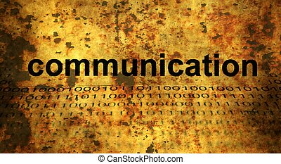 Wb Communication grunge concept