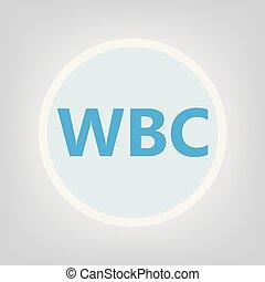 WBC (White Blood Cell) acronym- vector illustration