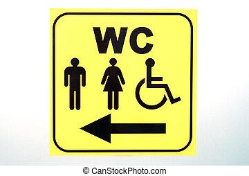 wc, туалет, знак