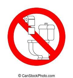 wc, 印。, 止まれ, ない, ペーパータオル, 禁止令, toilet., 投球