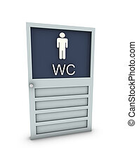wc for man