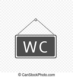 WC Hanging sign
