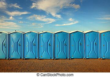 wc, hordozható