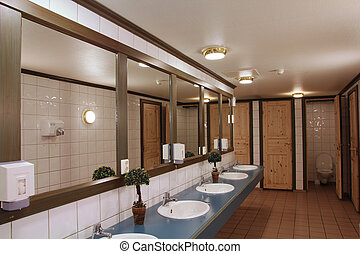 WC - Interior of a clean and tidy public bathroom