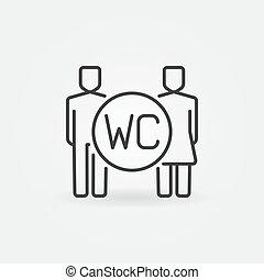 WC line icon