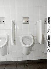 WC - Pissoires at a public restroom