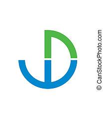 WD Initials Logo , initial logo vector