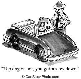 "We all have key meetings we're late for - ""Top dog or not,..."