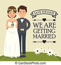 we are getting married card
