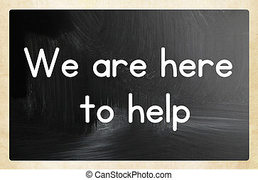we are here to help