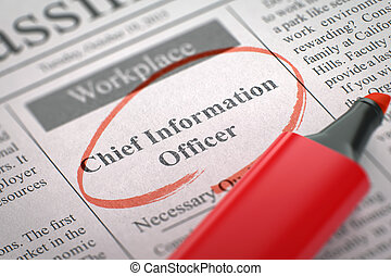 We are Hiring Chief Information Officer.