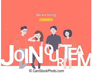 We are hiring concept banner