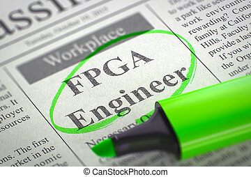 We are Hiring FPGA Engineer. 3D.