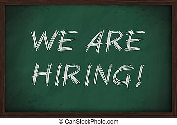 We are hiring job advertisment handwritten retro style on ...