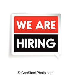 We are hiring label vector