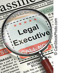 We are Hiring Legal Executive. 3D.