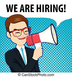 We are Hiring Megaphone