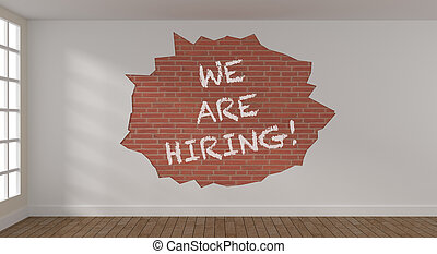 We are hiring on a brick wall