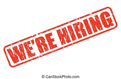 WE ARE HIRING red stamp text