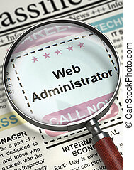 We are Hiring Web Administrator. 3D.