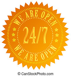 We are open 24 hour sign