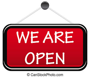 We are open sign board