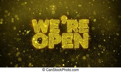 We Are Open Wishes Greetings card, Invitation, Celebration...