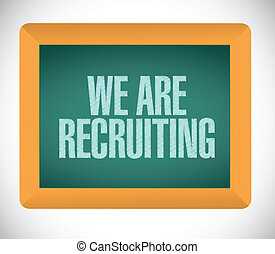 we are recruiting message on board illustration