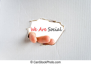 We Are Social Concept Isolated Over White Background