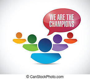 we are the champions illustration design