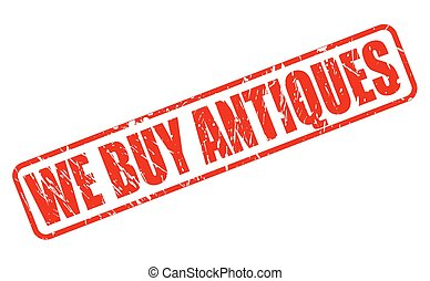WE BUY ANTIQUES red stamp text