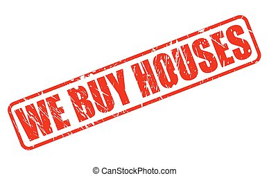 WE BUY HOUSES red stamp text