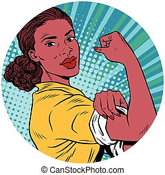 we can do it black woman African American pop art avatar charact