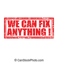 We Can Fix Anything-stamp