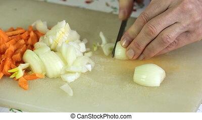 We cut onion