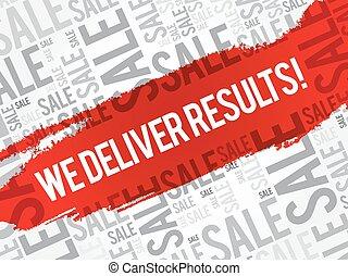 We deliver results ! words cloud