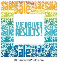 We deliver results! words cloud