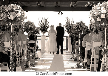 we do - bride and groom get married