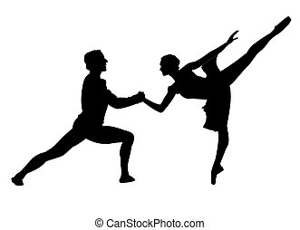 ballet pair - We have dancing ballet pair on a white...