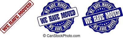 WE HAVE MOVED Grunge Stamp Seals - WE HAVE MOVED grunge ...