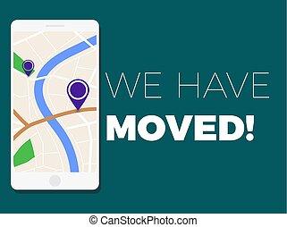 We have moved illustration . Address change concept