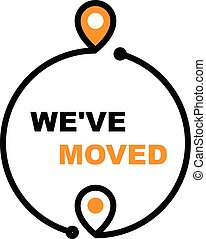 We have moved - office relocation icon, business transfer ...