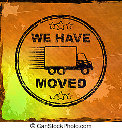 We have moved stamp means we relocated or redeployed - 3d ...
