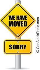 We have moved vector sign - We have moved vector pole sign