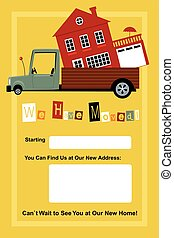 We Have Moved - We have moved card with copy spaces for a...