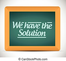 we have the solution message illustration