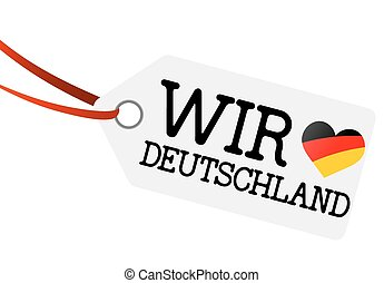 we love germany hangtag - white hangtag with ribbon and text...